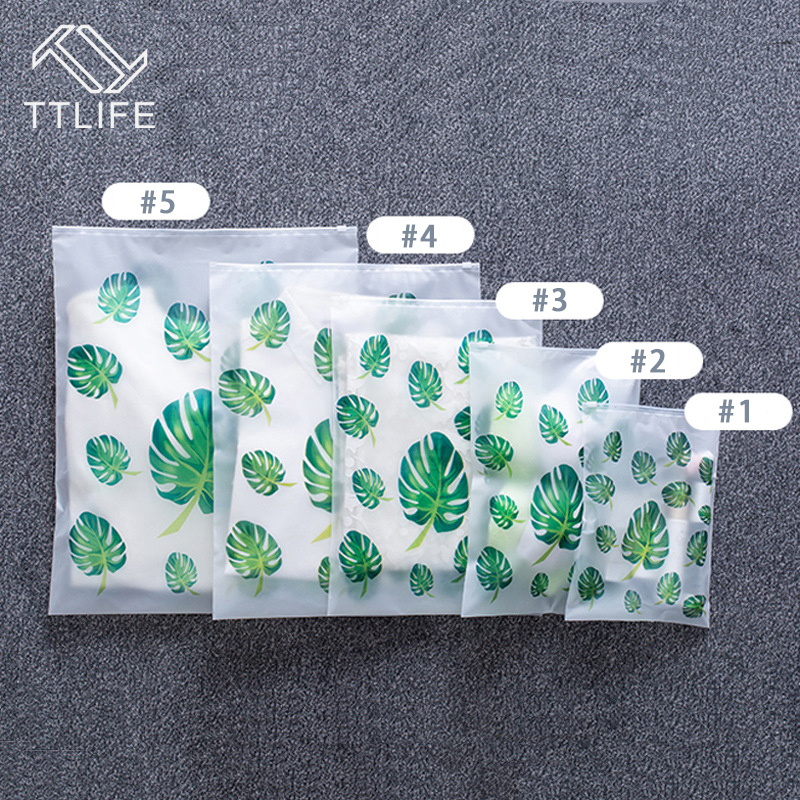 Image 4 - TTLIFE EVA Matte Tropical Leave Clothes Storage Bag Waterproof Transparent Seal Travel Organizer Pouch Toiletry Wash Kit 5 Sizes-in Storage Bags from Home & Garden