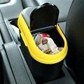 Basura coche cubo de basura del coche molduras Interiores Aplicables para guante compartimiento cubo de basura Negro cuerpo + 5 colores en la cala