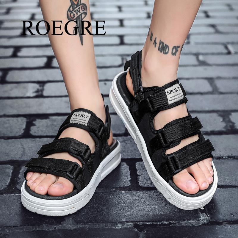 Man Sandals Summer Shoes New Breathable Men Slippers Mesh Lighted Casual Shoes Beach Flip Flops Brand Flip Flops Roman Shoes 48 1