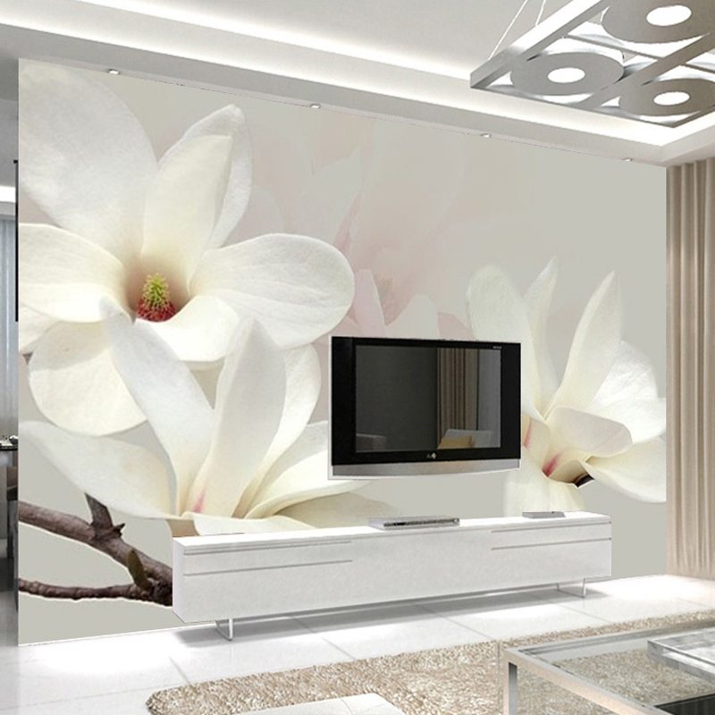 Modern Stylish Living Room Flowers Buy Custom Photo Mural Wallpaper Modern Fashion Lily Flower