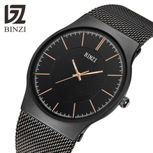2019 New Quartz Wristwatches BINZI Men Top Brand Luxury Dress Gifts Watches Male Full Steel Clock Relogio Masculino reloj hombre все цены