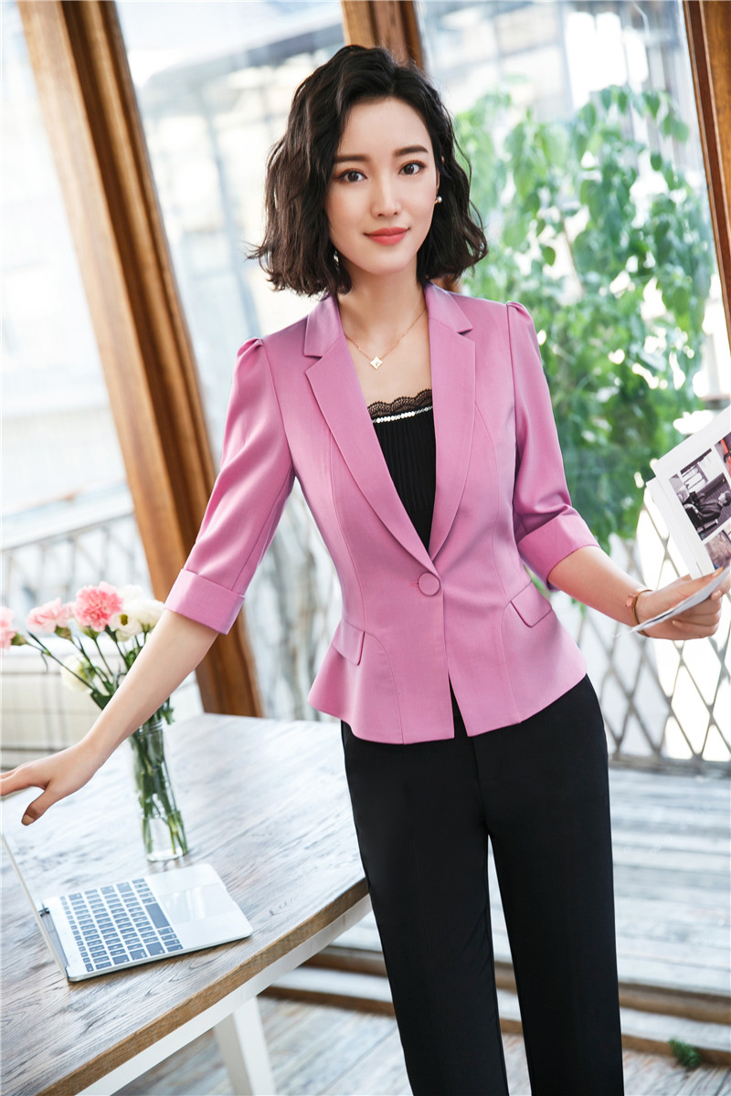 Hot Sale New Fashion Purple Casual Blazers Uniform Designs Pantsuits