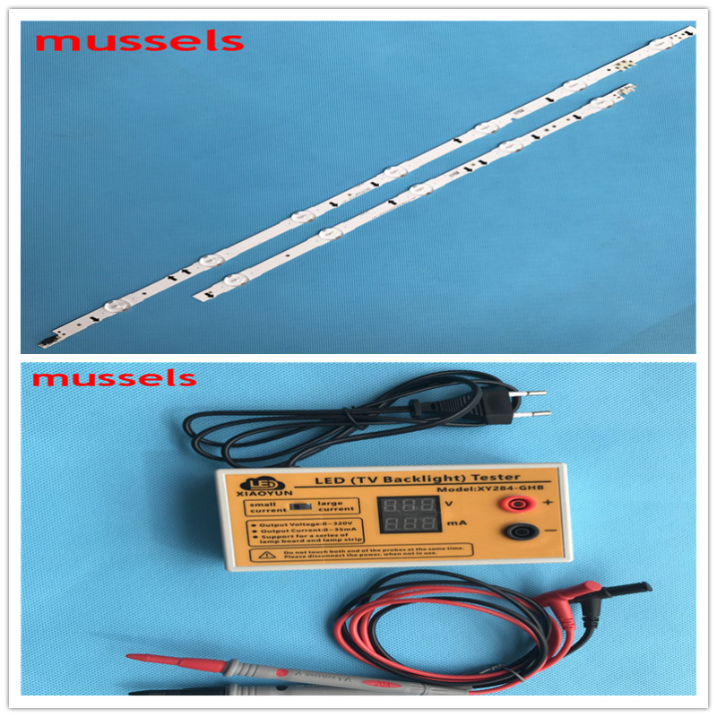 LED Backlight Strip For Samsung 55''TV 12lamp UE55J6300 UA55J5088 T550HVF0 D4GE-550DCA-R3 D4GE-550DCB-R3 2pcs And LEDtester 1pcs