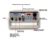 Rechargeable Spot Welder Machine with Argon Contact Function Thermocouple and Fine Wire Welder