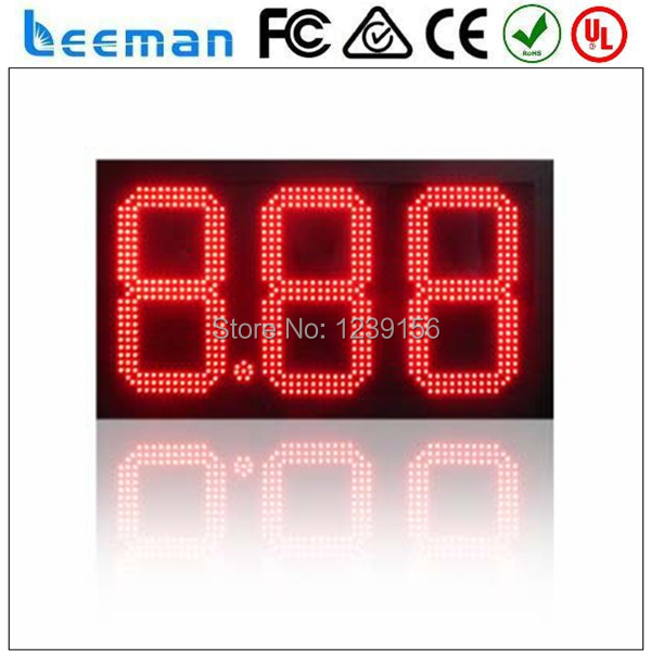 leeman 10inch led gas price sign