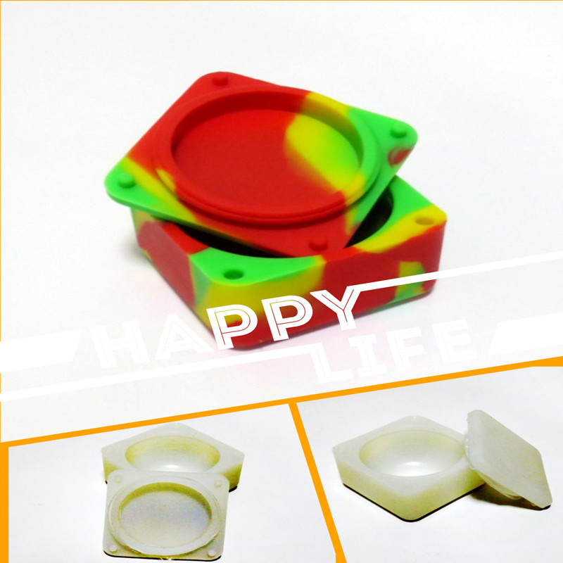 37ml FDA Approved Non Stick Sphere Silicone Container Jars Dab Box Reusable for Concentrate Wax eGo