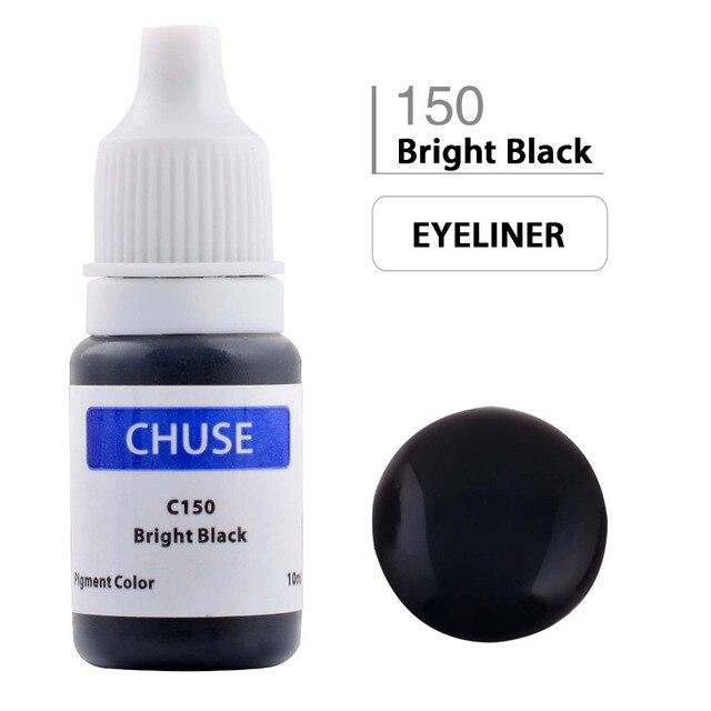 CHUSE Permanent Makeup Ink Corrector TattooInk Set Microblading Pigment for Maquiagem Definitiva 10ML Bright Black C150