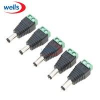 Wholesale 100pcs/LOT DC Power Male Jack Connector Plug 5.5mm x 2.1mm For CCTV Camera LED Light Via DHL EMS FEDEX