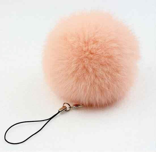 Pele Pom Keychain Chaveiro Bola De Pele de Coelho Real Fur Porte Clef chaveiro Llaveros Chaveiro para o Saco de Charme Navidad Regalos