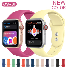 Sport silicone strap for Apple watch 4 band 44mm 40mm iwatch band correa aple watch 42mm 38mm wrist bracelet watch accessories