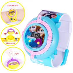 JOYROX Gyro детские часы Человек-паук Принцесса Эльза гироскоп детские часы для мальчиков и девочек Подарки электронные часы ребенок Relogio Saat