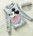 2016 Autumn Winter Children Clothes Kids Add Wool Hoodies Girls Warm Velvet Sweatshirts Cute Minnie Sweater Child Costume