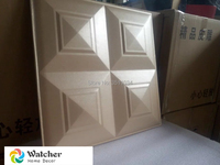 3D Leather Wall Panel for hotel decor 10pcs 40x40cm High Quality Faux Leather 3d carved leather decorative wall