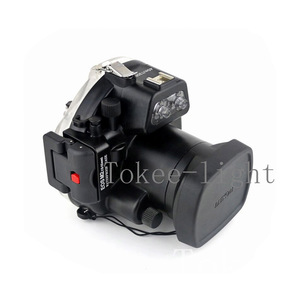 Image 2 - 40 meters Underwater Waterproof Housing Diving Camera Case Housing Bag for Canon EOS M2 EOS M2 EOS M II Camera fit 18 55mm lens
