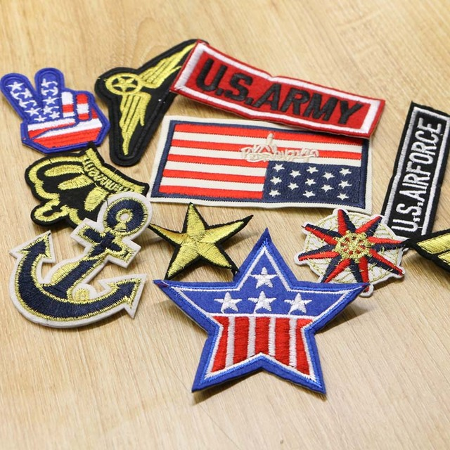 16pcs Army Military Patch Iron On Embroidery Patch Embroidery Patch