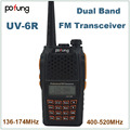 Pofung Baofeng UV-6R UV6R Dual Band VHF UHF 136 - 174 MHz e 400 - 520 MHz rádio em dois sentidos UV 6R à prova d ' água VHF FM rádio Walkie Talkie