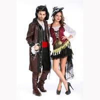 Erkekler korsan kostüm cadılar bayramı karayip korsan kostümleri yetişkin kadın cosplay kostüm korsan cosplay halloween party dress korsanlar