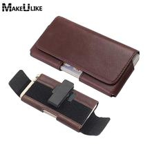 Leather Universal Phone Pouch For Huawei Honor 9 Honor 6X Adjustable Belt Clip Holster Bag For Huawei Honor 8 Lite V8 V9 Case