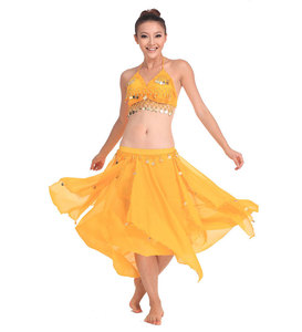 Image 2 - Belly Dancing Stage Performance Oriental Belly Dancing Clothes 2pieces Suit Top Shirt + Skirt Belly Dance Costume Set White