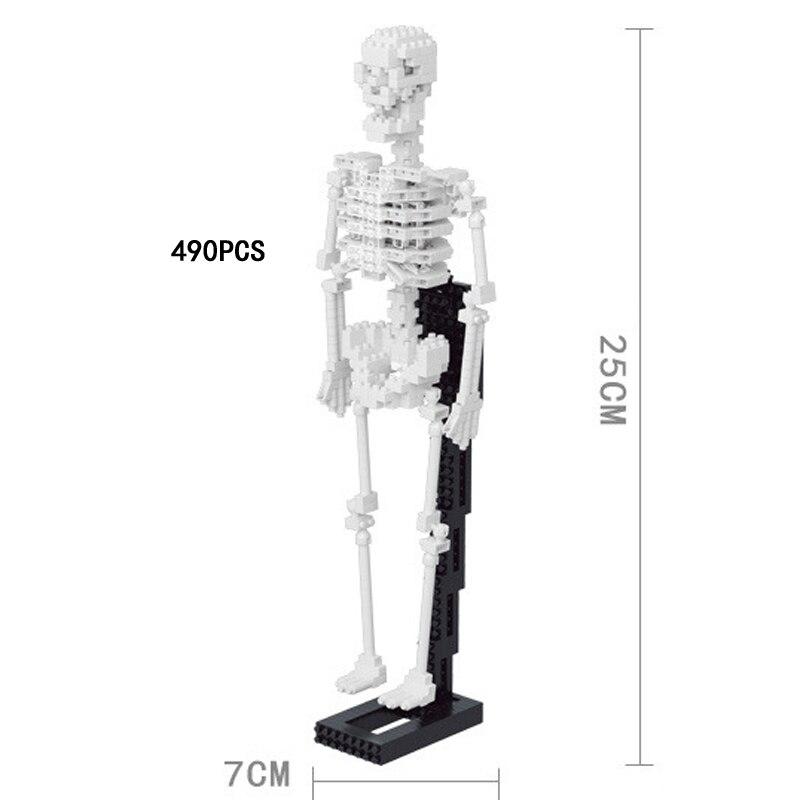 Creative Skeleton nanoblock medical educational assemable micro diamond building block toys for Halloween giftsCreative Skeleton nanoblock medical educational assemable micro diamond building block toys for Halloween gifts