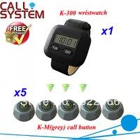 Низкая цена серый кнопку вызова K M и официант наручные часы пейджер для беспроводной Ресторан пейджер