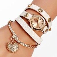 Womens Quartz Wristwatches Fashion Casual Leather Women Bracelet Watch Jelly Clock Relogio Feminino Luxury Rhinestone Hours