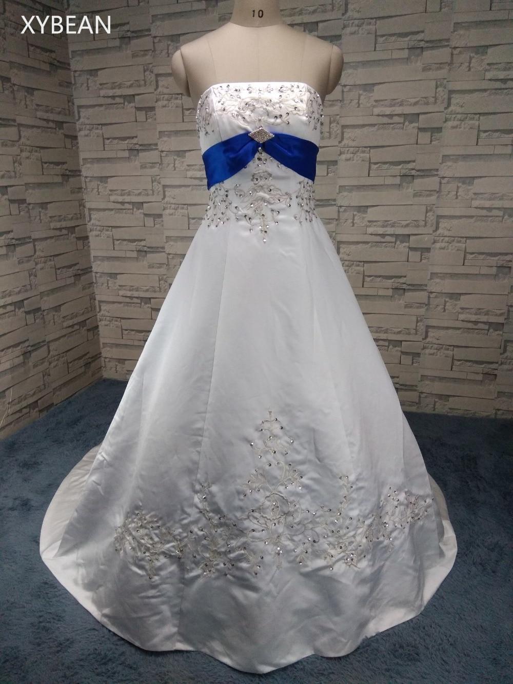 2017 Nemokamas pristatymas Beading siuvinėjimas A line linijos su - Vestuvių suknelės