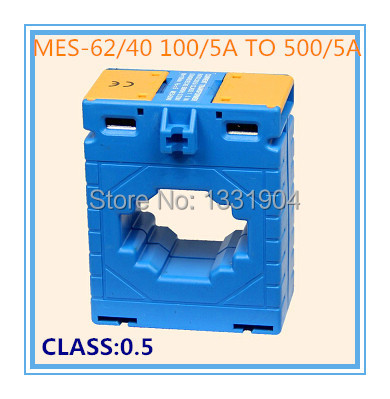 Window type MES-62/40 100/5A-500/5A  small current transformer low voltage current transformer, CT, CA, CP, ring type 0.5 class