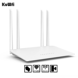 Image 2 - KuWfi 300Mbps Wireless Router 2.4G High Speed Home Wifi Router Wireless Repeater /AP With 4*5dBi&Antennas Support 32 Devices