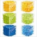 3 Colores Laberinto Cubo Mágico Puzzle 3D Mini Cubo de la Velocidad Labtrinth Rolling Ball Juguetes Juego de Inteligencia Para Niños D113