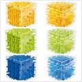 3 Cor Labirinto Cubo Mágico Puzzle 3D Mini Cubo de Velocidade Labtrinth Bola Rolando Brinquedos Jogo de Inteligência Para Crianças D113