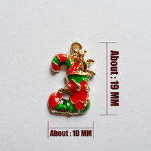 2017 Fashion CHARMS accessories Gold-color jewelry ,Christmas gifts ,Christmas hip-hop style shoes(China)