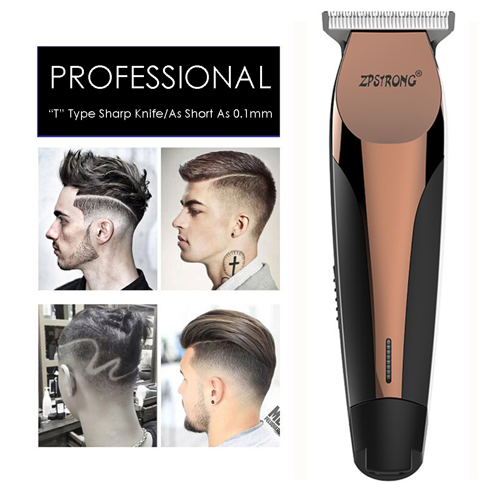 100 240V Professional Precision Hair Clipper Electric Hair Trimmer Beard Shaving Machine 0.1mm Cutter Men Barber Haircut Tool-in Hair Trimmers from Home Appliances