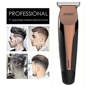 Image 1 - 100 240V profesjonalna precyzja maszynka do strzyżenia włosów elektryczna maszynka do włosów maszynka do strzyżenia brody maszynka do golenia 0.1mm Cutter mężczyzn fryzjer strzyżenie narzędzie