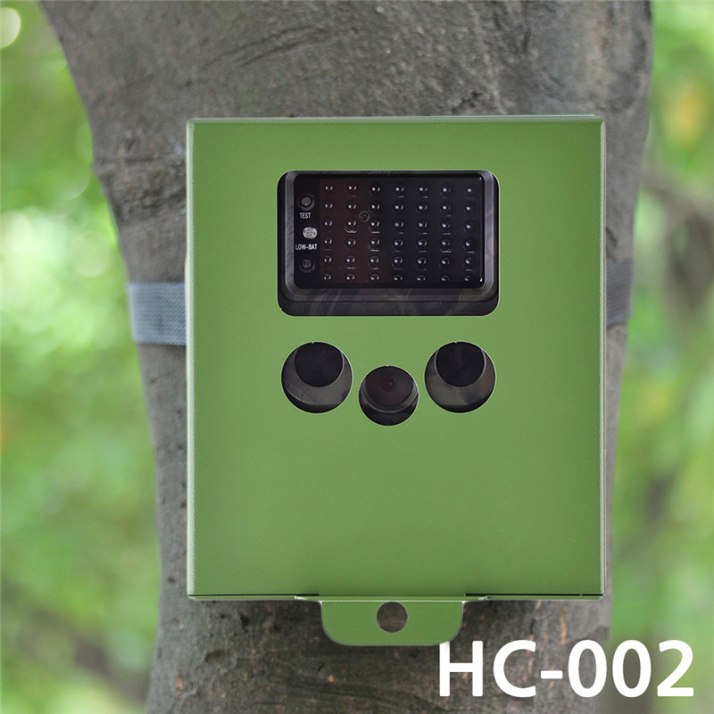 ФОТО HT-002 Series Hunting Scounting Game wild Camera Cameras Security Protection Metal Iron Box for HT-002AA/HT-002LI/HT-002LIM