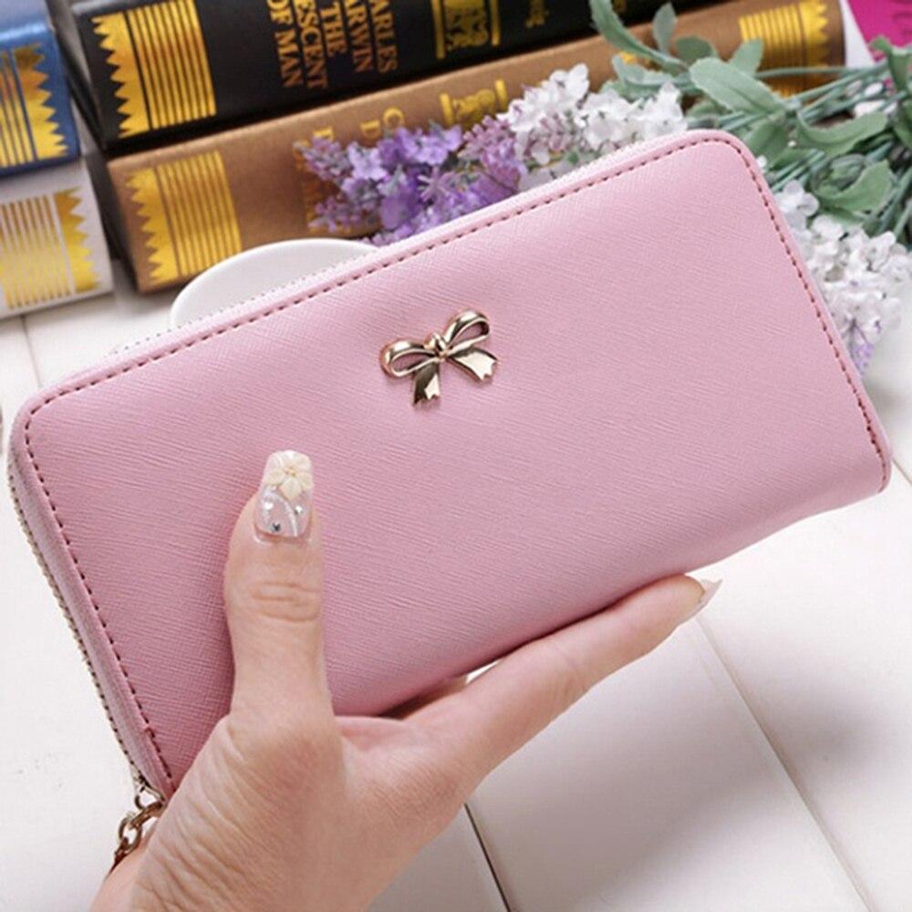 Women's Leather Purse Ladies Young Fashion Long Clutch Purse Women Wallet