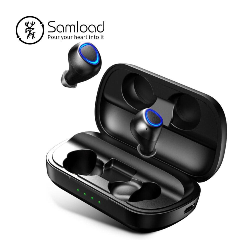 Bluetooth 5.0 casque Sans Fil écouteurs stéréo iPX7 avec 2600 mah de charge boîte Soutien chargeur sans fil pour Plus Smartphone