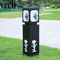Светодиодная Красивая Черная Железная художественная лампа exterieur jardin  водонепроницаемая Жилая вилла  балкон  наружная патио