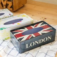 New European Style Classical Style Retro Creative Home Sheet Paper Towel Box Fashion Simple Rectangular Box