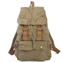 M135 New High Quality Vintage Military Brand New Canvas Women Men Casual Retro Backpack Day Pack
