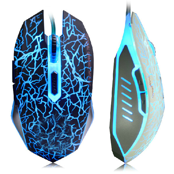 ICERAY Quality USB 6D Wired Optical Computer Gaming Mouse With Breathing Lamp For Gamer