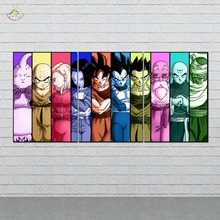 Anime Dragon Ball Wall Art Canvas Painting Posters and Prints Decorative Picture Decoration Home For Living Room 3 PIECES