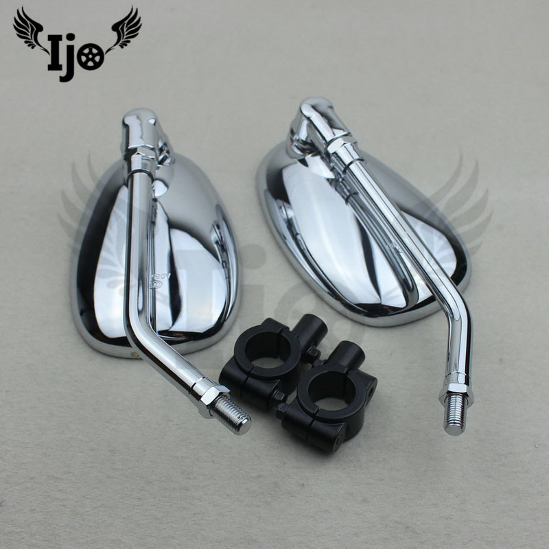 motorbike accessories side mirror moto mirrors unviersal 10MM 8MM for Harley Davidson Ellipse motorcycle Refit rearview mirror