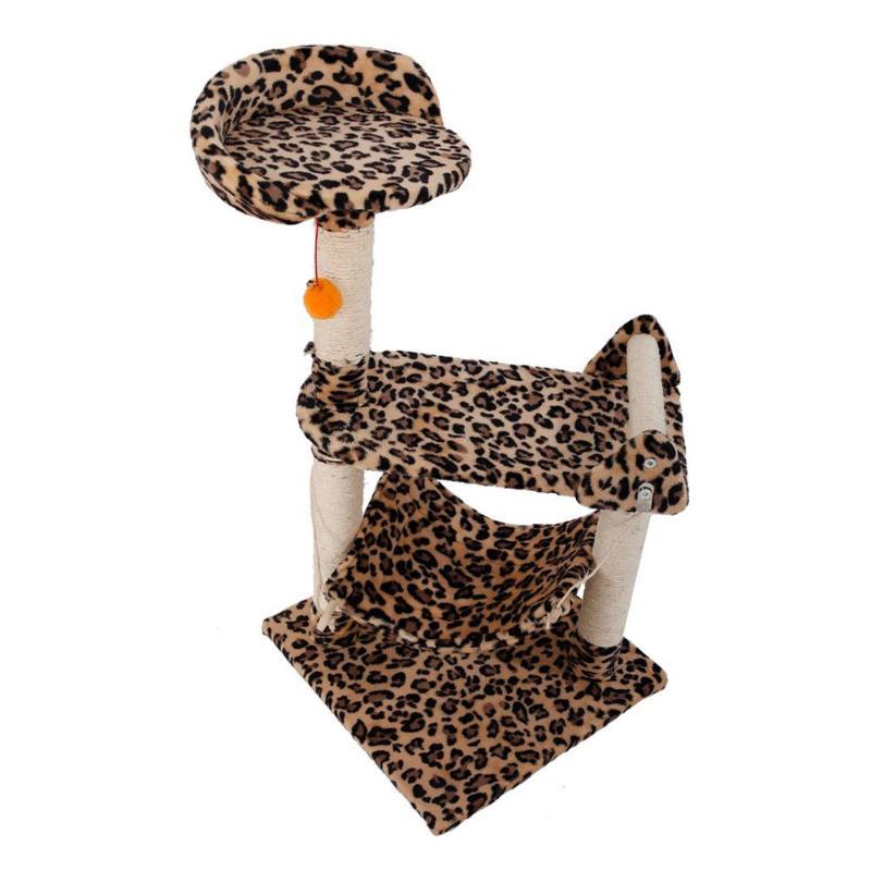 Estampado de leopardo M32 32 32 pulgadas estable Sisal gato subir soporte  gatos Torre árbol juguete