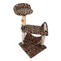 Leopard Print M32 32 inch Stable Sisal Cat Climb Holder Cats Tower Tree Toy E5M1