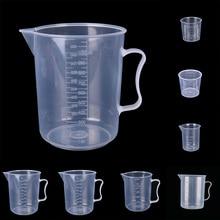 20 Вт, 30 Вт, 50/300/500/1000ML прозрачный Пластик измерения твердого английского фарфора носика поверхности Кухня лабораторная измерительная шкала чашка#20