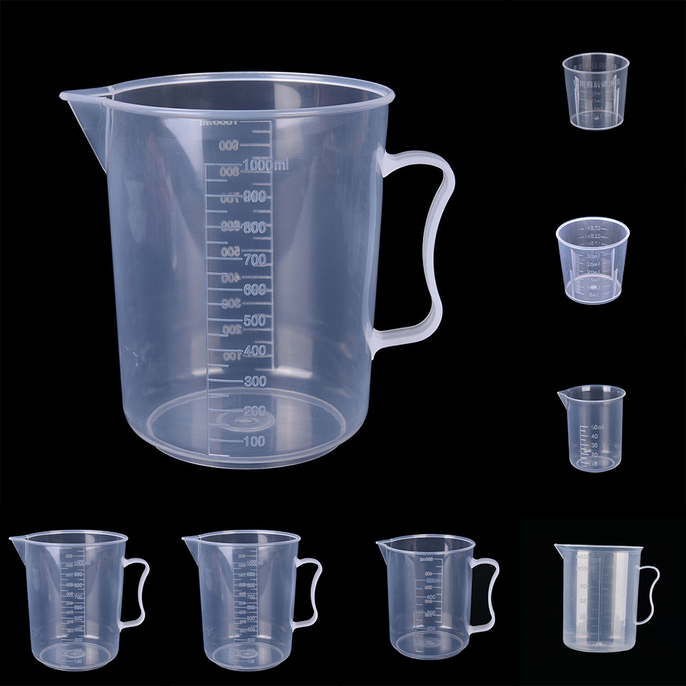 20/30/50/300/500/1000ML Transparent Plastic Measure Jug Pour Spout Surface Kitchen Laboratory Measuring Scale Cup #20