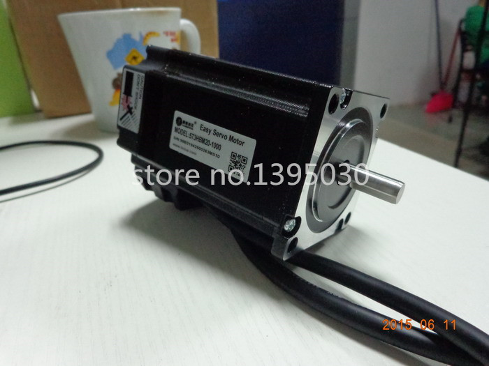 1pc 300W Professional High speed closed-loop stepper motor set Servo closed loop stepping motor + 573S20-EC-1000 Motor HBS57 wantai closed loop step motor 86hbm80 1000 servo motor 9n m nema 86 hybird closed loop 2 phase stepper motor www wantmotor com