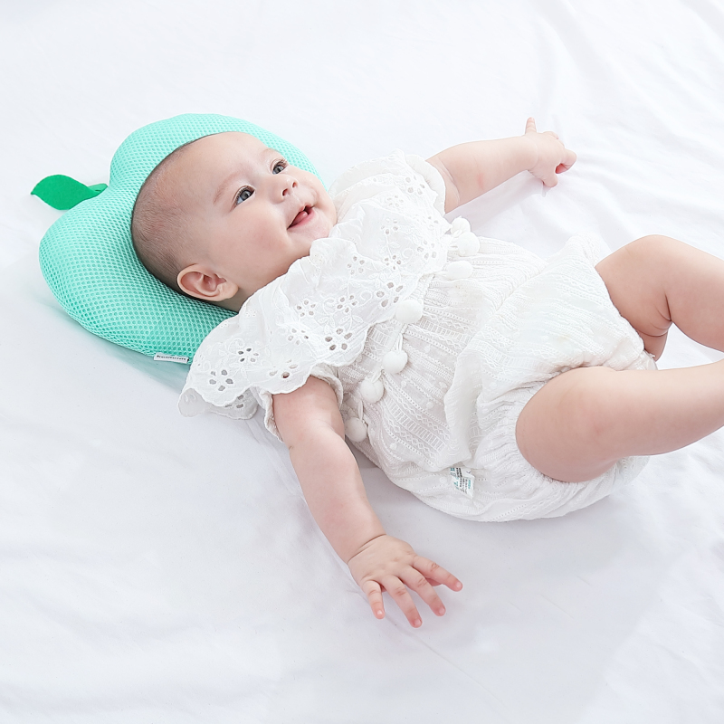 newborn infant anti roll pillow and flat head neck prevent support for infants
