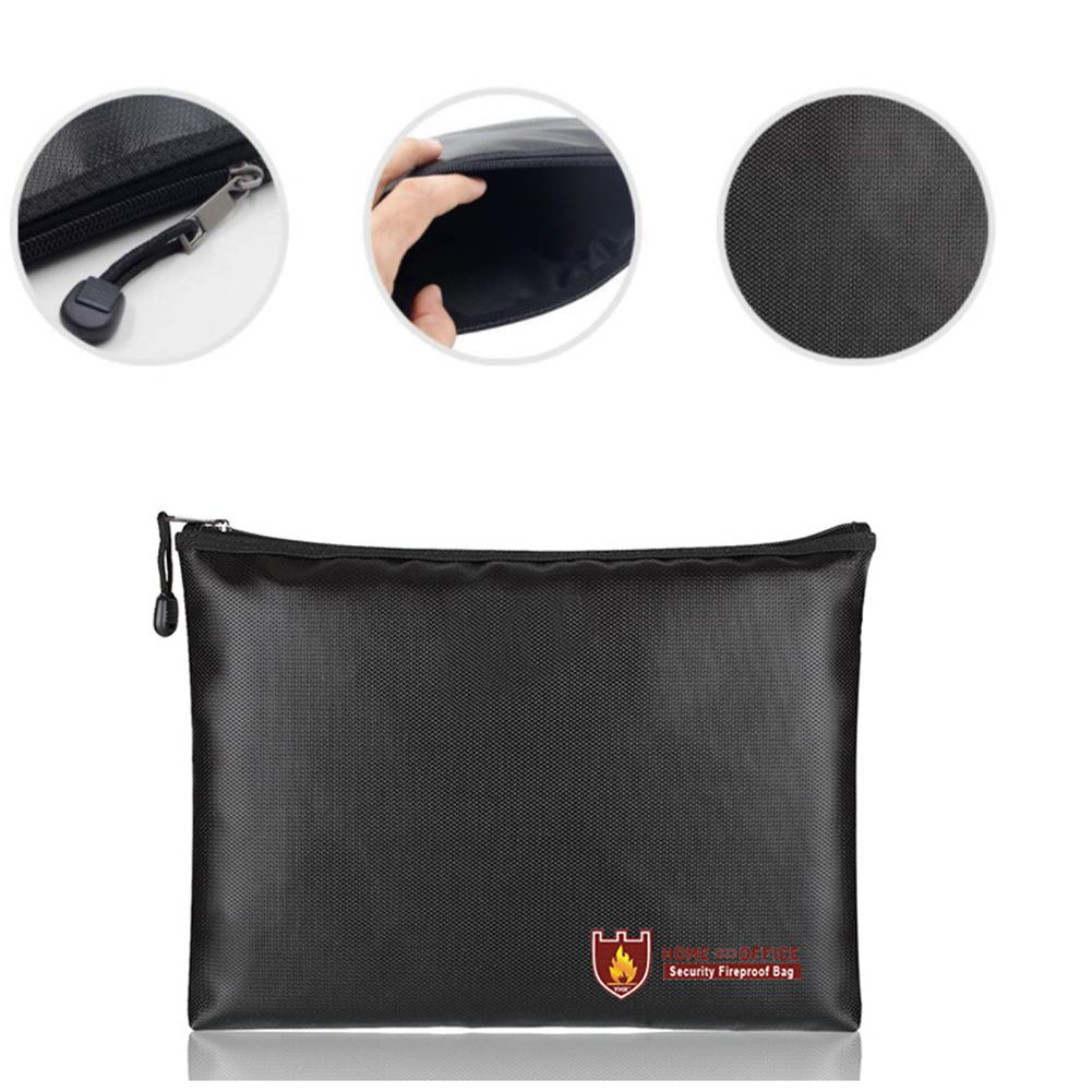 Zipper File Bag Fireproof Liquid Silicone Documents Bag With Zipper Protective Case For Files Storage D20